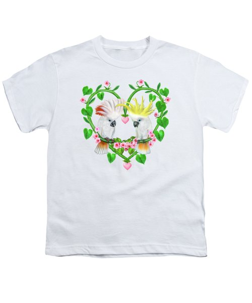 Cockatoos Of The Heart Youth T-Shirt by Glenn Holbrook