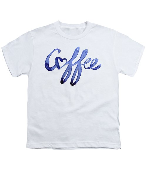 Coffee Love Typography Youth T-Shirt