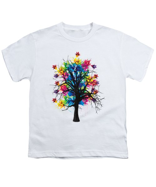 Color Tree Collection Youth T-Shirt by Marvin Blaine