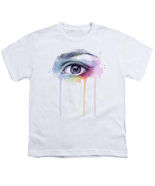 Colorful Dripping Eye Youth T-Shirt