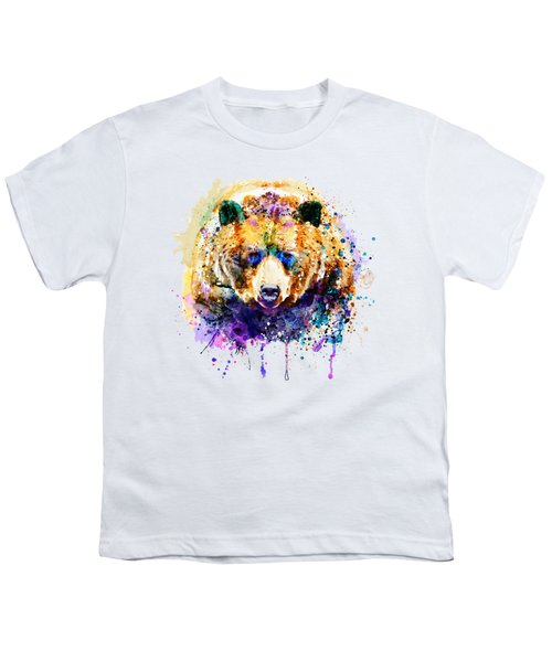 Colorful Grizzly Bear Youth T-Shirt