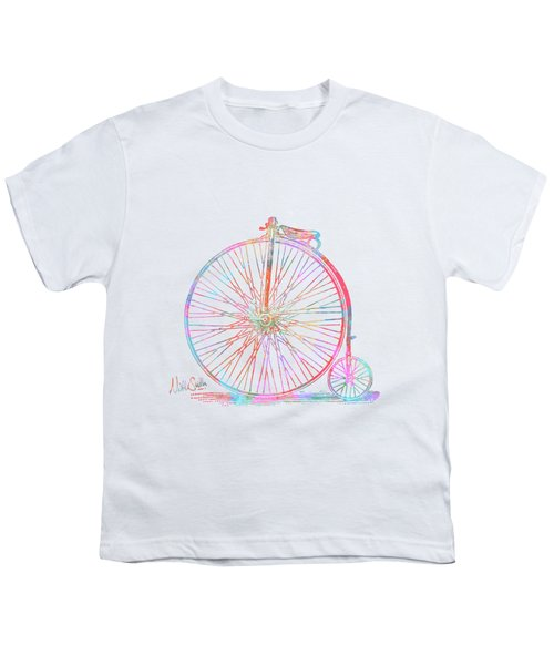 Colorful Penny-farthing 1867 High Wheeler Bicycle Youth T-Shirt