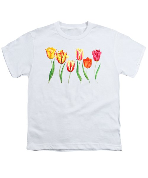 Colorful Tulips Youth T-Shirt
