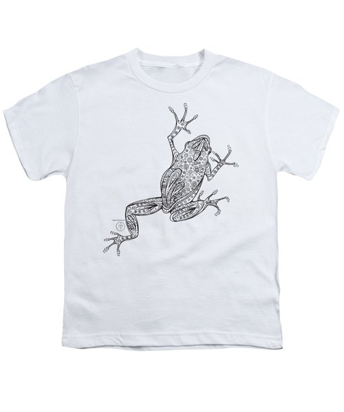 Coloring Page With Beautiful Frog Drawing By Megan Duncanson Youth T-Shirt