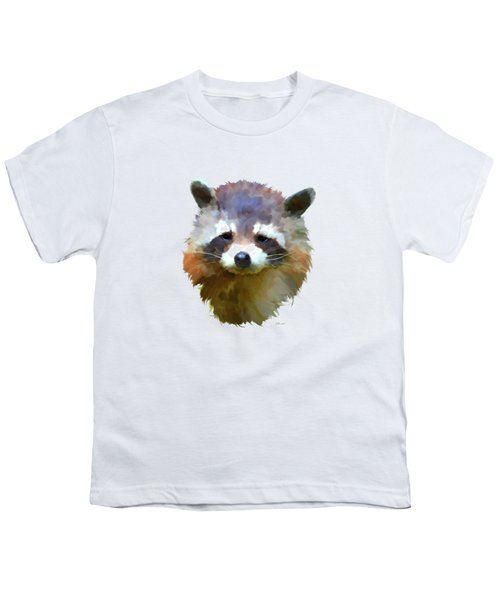 Colourful Raccoon Youth T-Shirt by Bamalam  Photography