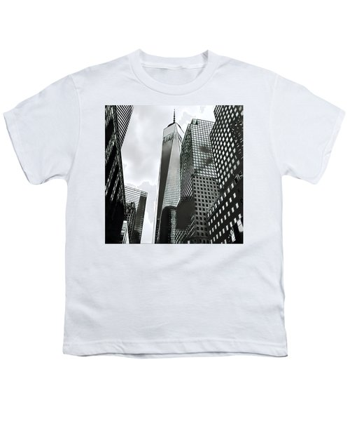 Commuters' View Of 1 World Trade Center Youth T-Shirt