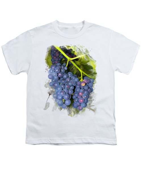 Concord Grape Youth T-Shirt by Ivana Westin