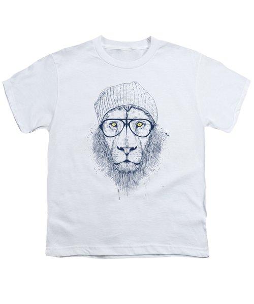 Cool Lion Youth T-Shirt by Balazs Solti