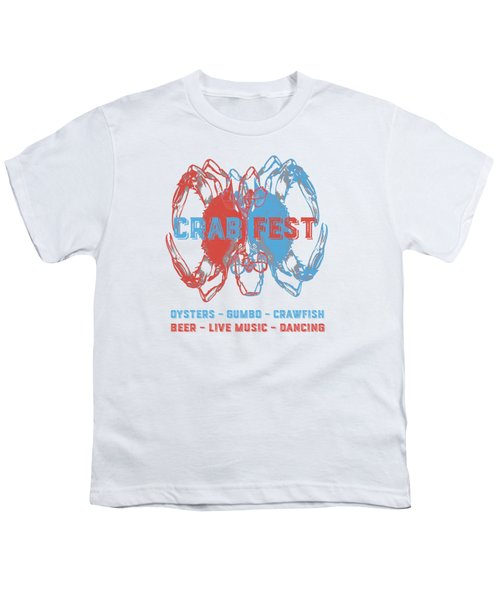 Crab Fest Tee Youth T-Shirt by Edward Fielding
