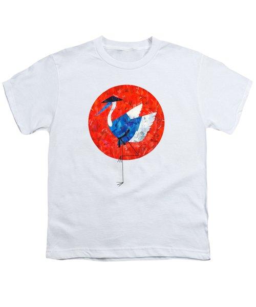 Crane Youth T-Shirt by Daryna Skulska