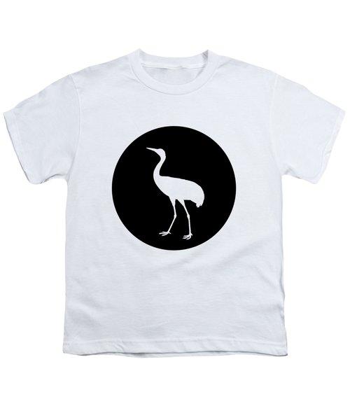Crane Youth T-Shirt by Mordax Furittus