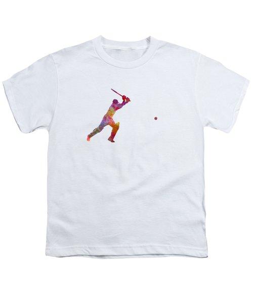 Cricket Player Batsman Silhouette 04 Youth T-Shirt