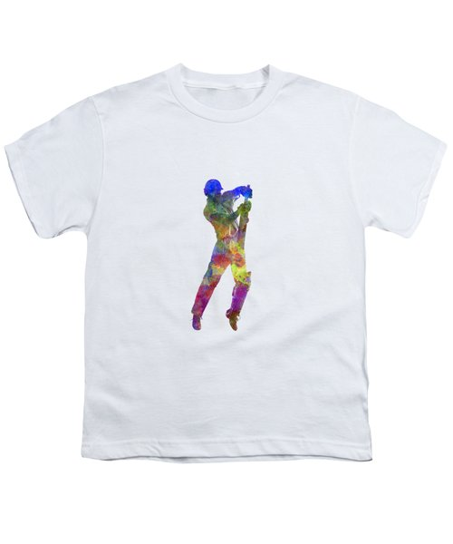 Cricket Player Batsman Silhouette 05 Youth T-Shirt by Pablo Romero