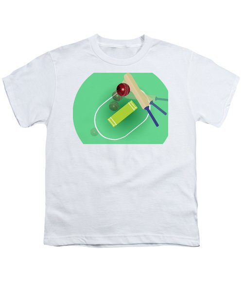 Cricket Youth T-Shirt by Smita Kadam