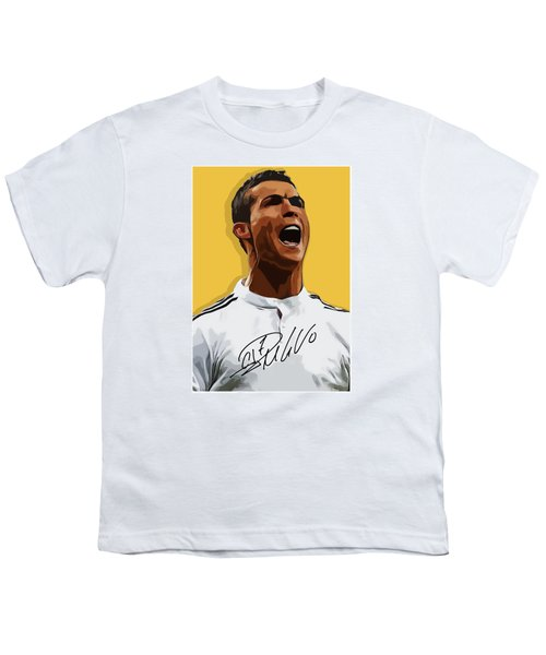 Cristiano Ronaldo Cr7 Youth T-Shirt by Semih Yurdabak