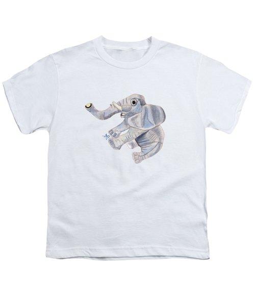 Cuddly Elephant IIi Youth T-Shirt by Angeles M Pomata