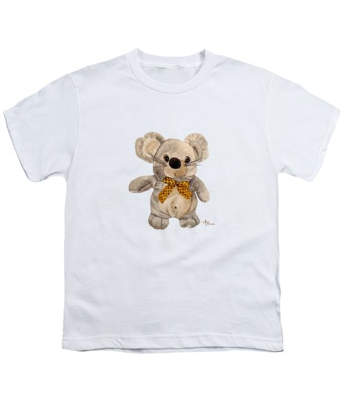 Cuddly Mouse Youth T-Shirt by Angeles M Pomata