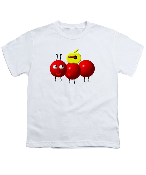 Cute Ant With An Apple Youth T-Shirt by Rose Santuci-Sofranko