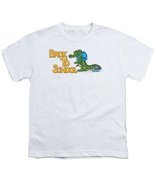 Cute Crocodile With Briefcase Youth T-Shirt
