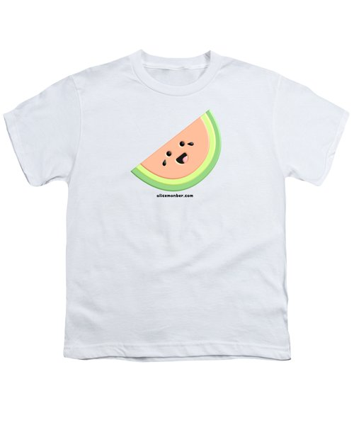 Cute Happy Watermelon  Youth T-Shirt
