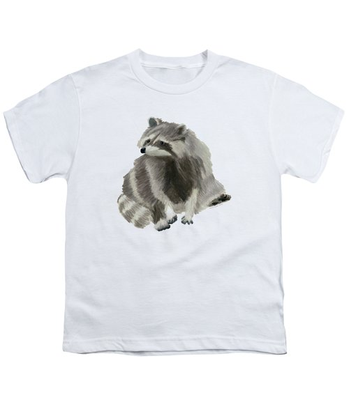 Cute Raccoon Youth T-Shirt by Dominic White