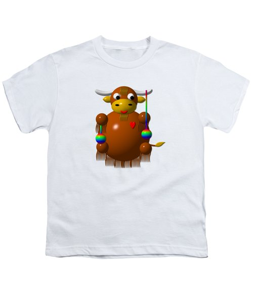 Cute Yak With Yo Yos Youth T-Shirt by Rose Santuci-Sofranko