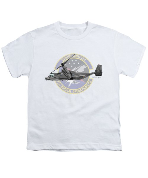 Cv-22b Osprey 71sos Youth T-Shirt by Arthur Eggers