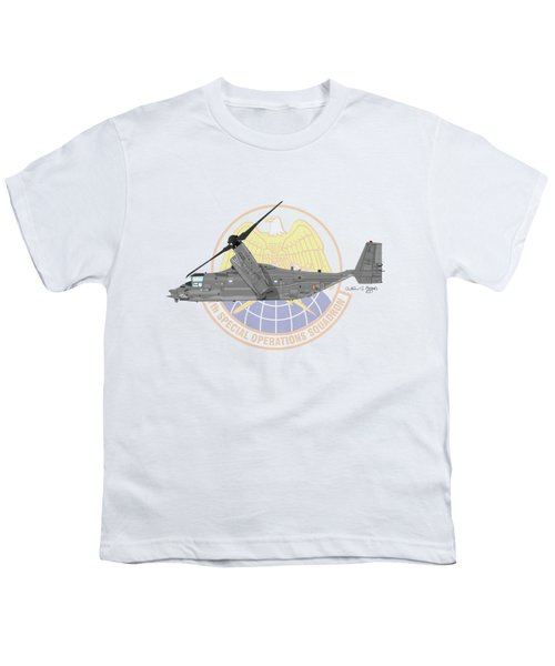 Cv-22b Osprey 7sos Youth T-Shirt by Arthur Eggers
