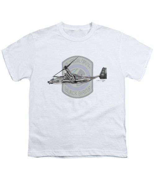 Cv-22b Osprey 8sos Youth T-Shirt by Arthur Eggers