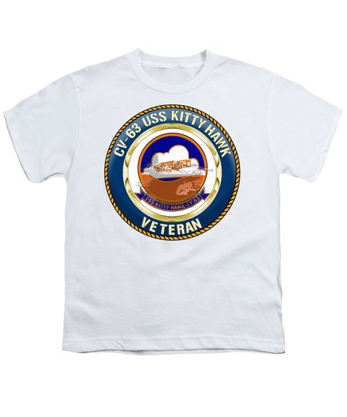 Cv-63 Uss Kitty Hawk  Youth T-Shirt