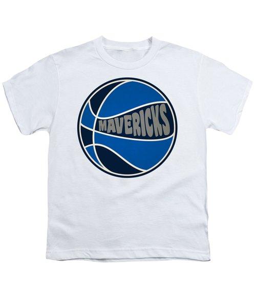 Dallas Mavericks Retro Shirt Youth T-Shirt by Joe Hamilton