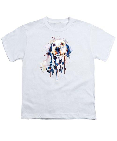 Dalmatian Head Youth T-Shirt by Marian Voicu