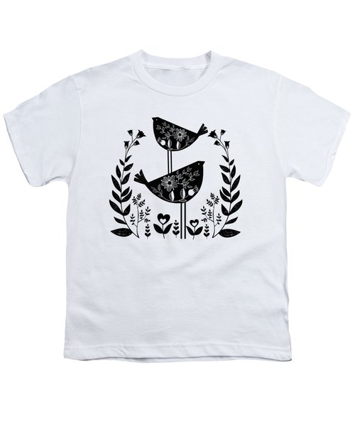 Danish Birds Of Good Luck And Good Life Youth T-Shirt