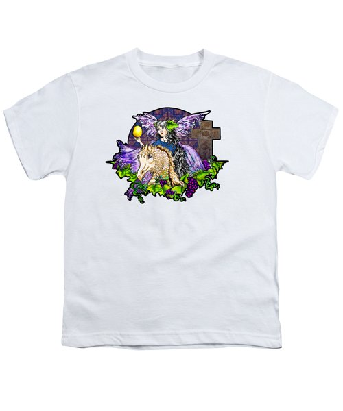 Dark Tales Of Fairy Eve And The Dragons Of Eden Youth T-Shirt by Janice Moore