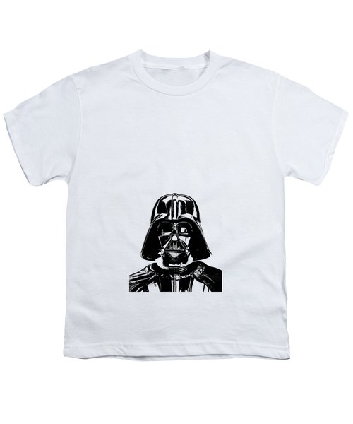 Darth Vader Painting Youth T-Shirt by Edward Fielding