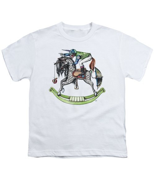 Day At The Races Youth T-Shirt by Kelly Jade King