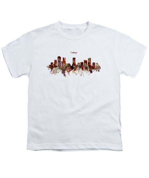 Denver Skyline Silhouette Youth T-Shirt