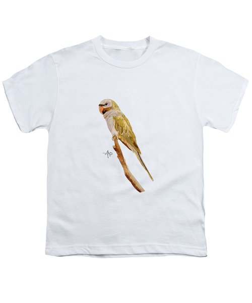 Derbyan Parakeet Youth T-Shirt by Angeles M Pomata