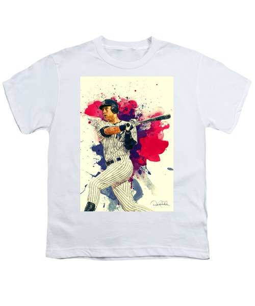 Derek Jeter Youth T-Shirt by Taylan Apukovska