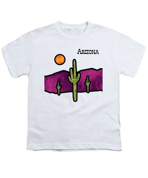 Desert Stained Glass Youth T-Shirt by Methune Hively