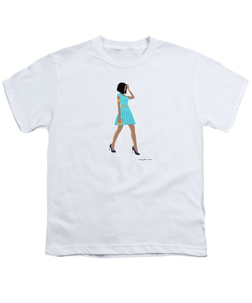 Youth T-Shirt featuring the digital art Dima by Nancy Levan