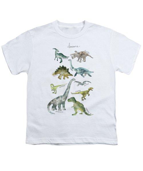 Dinosaurs Youth T-Shirt by Amy Hamilton