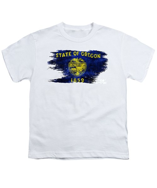 Distressed Oregon Flag Youth T-Shirt