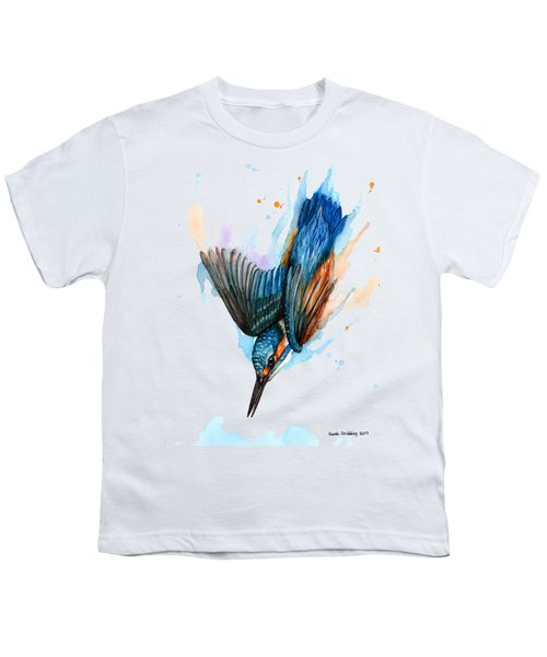 Diving Kingfisher Youth T-Shirt