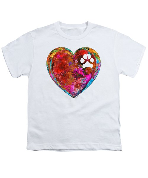 Dog Art - Puppy Love 2 - Sharon Cummings Youth T-Shirt