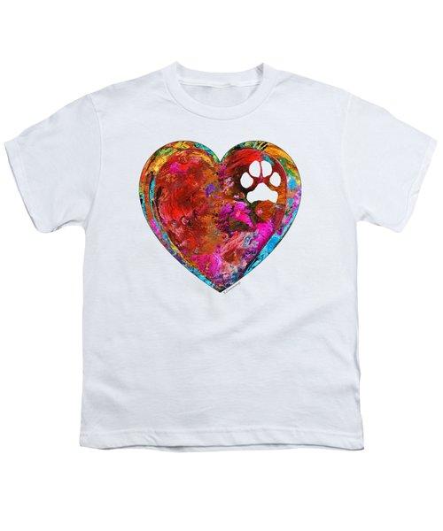 Dog Art - Puppy Love 2 - Sharon Cummings Youth T-Shirt