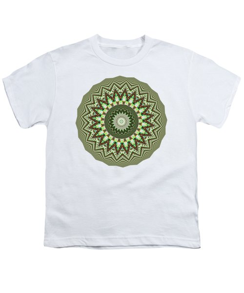 Dome Of Chains Mandala By Kaye Menner Youth T-Shirt by Kaye Menner
