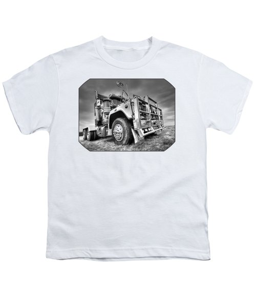 Done Hauling - Black And White Youth T-Shirt