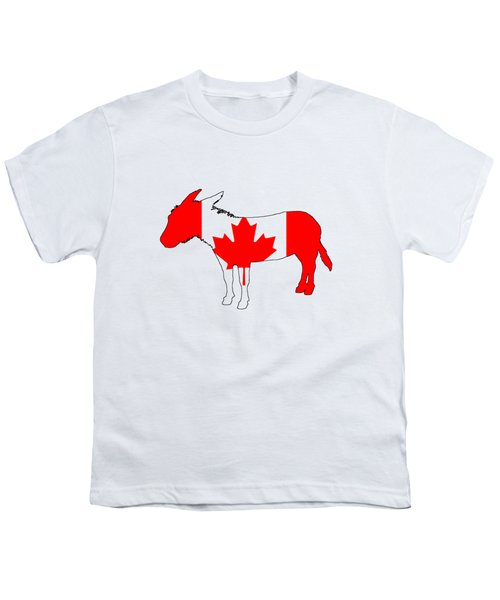Donkey Canada Youth T-Shirt by Mordax Furittus
