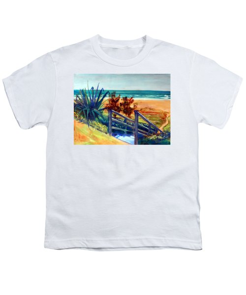 Down The Stairs To The Beach Youth T-Shirt by Winsome Gunning